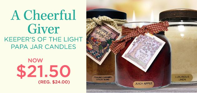 Keeper's of the Light 34 oz. Papa Jar Candles by A Cheerful Giver