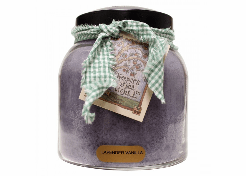 Lavender Vanilla 34 oz. Papa Jar Keepers of the Light Candle by A Cheerful Giver