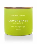 Lemongrass Ginger 14.5 oz. Pop of Color Trend Collection Colonial Candle | Pop of Color Collection Colonial Candle
