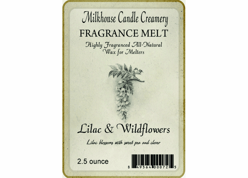 Lilac & Wildflowers Fragrance Melt by Milkhouse Candle Creamery