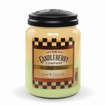 NEW! - Lime & Coconut 26 oz. Large Jar Candleberry Candle | New Releases by Candleberry