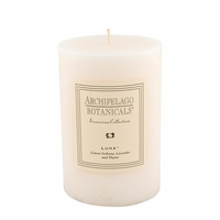 Luna Large Pillar Candle by Archipelago