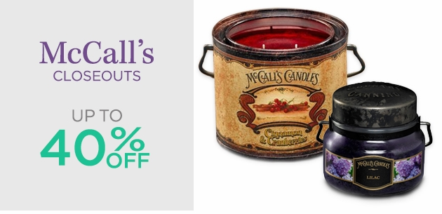 McCall's Candles Closeouts