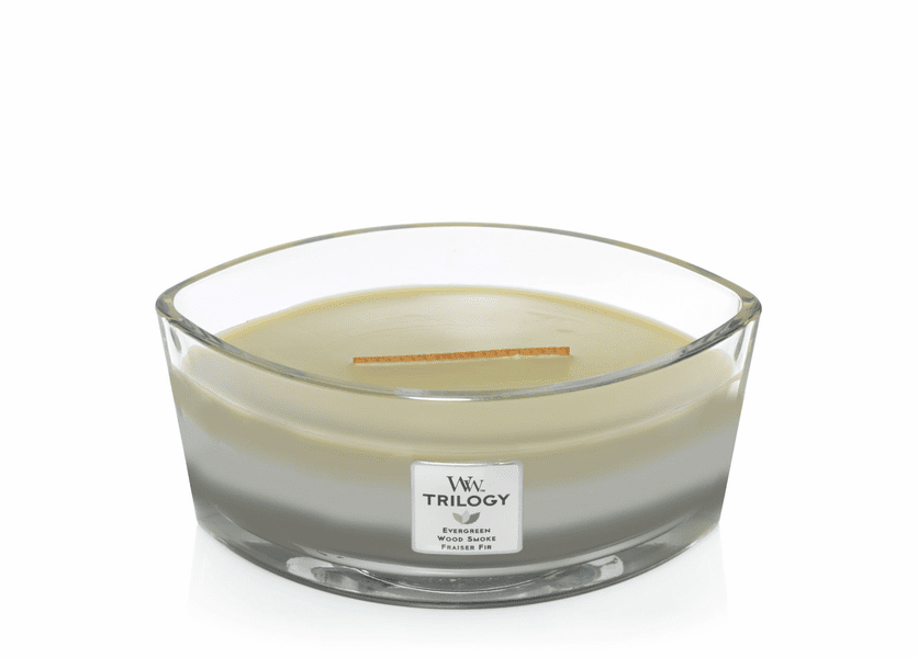 Mountain Trail WoodWick Trilogy Candle 16 oz. Hearthwick Flame