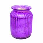 Mulberry & Mandarin Purple 24 oz. Gilded Glass Large Jar Swan Creek Candle | Gilded Glass Collection