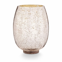 CLOSEOUT - Mulled Wine Large Crackle Glass Illume Candle