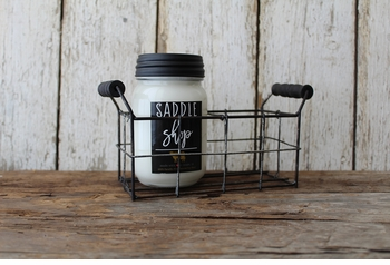 NEW! - 2 Cell Mason Jar Holder by Milkhouse Candle Creamery