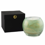 "NEW! - 4"" Celadon Esque Globe Candle with Glass Insert 