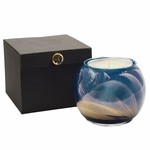 "NEW! - 4"" Midnight Esque Globe Candle with Glass Insert 