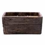 CLOSEOUT-Alpine Forest Weathered Wood Pottery Small Window Box Swan Creek Candle | Swan Creek Candles Closeouts