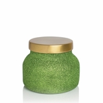 NEW! - Alpine Juniper 19 oz. Green Glitter Glam Signature Jar Candle by Capri Blue | Holiday Candles by Capri Blue