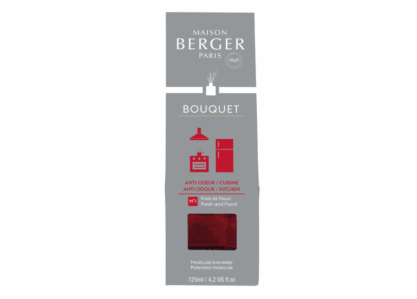 NEW! - Anti-Kitchen Odour No. 1 - Fresh & Floral Reed Diffuser - Maison Berger by Lampe Berger
