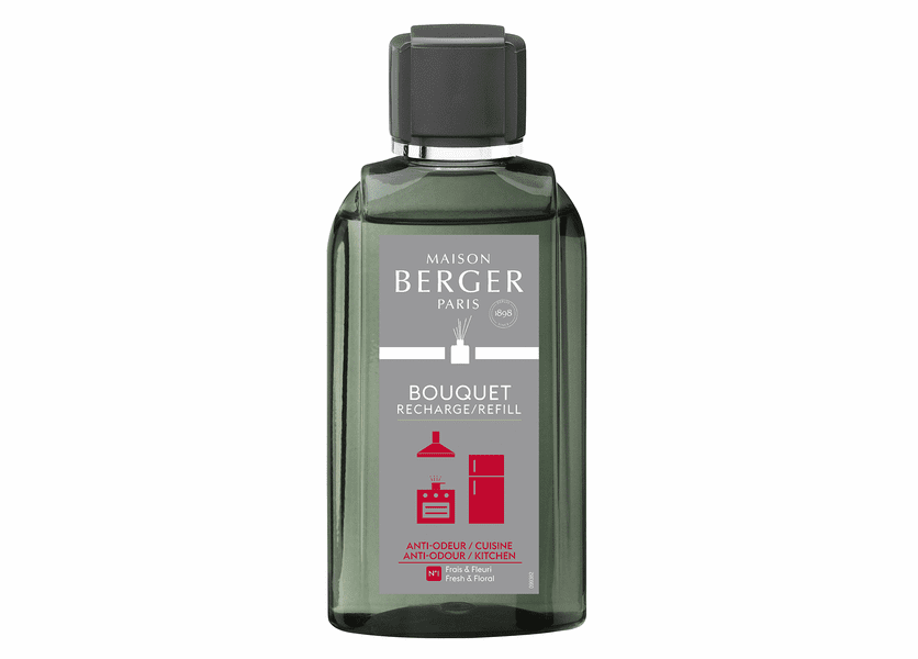 NEW! - Anti-Kitchen Odour No. 1 - Fresh & Floral Reed Diffuser Refill - Maison Berger by Lampe Berger