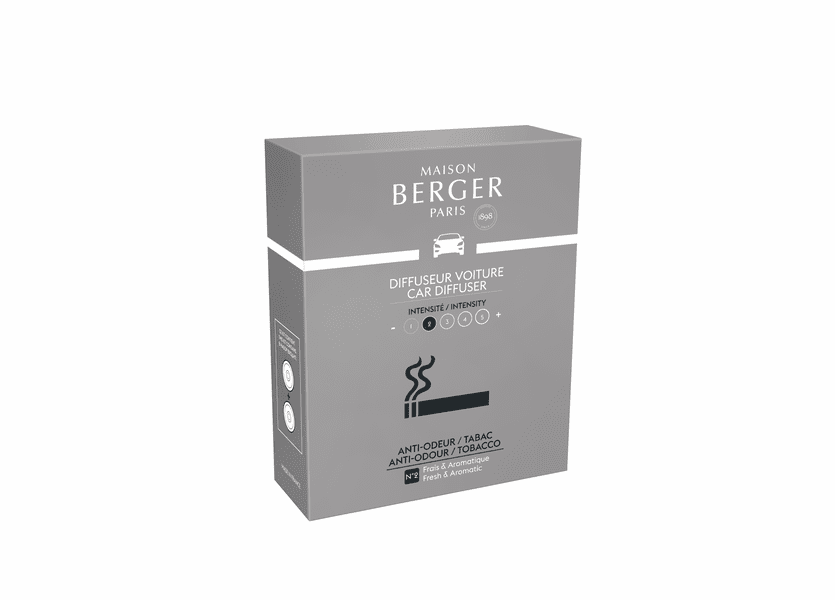 NEW! - Anti-Tobacco Odour No. 1 - Woody Car Diffuser Ceramic Refill - Maison Berger by Lampe Berger