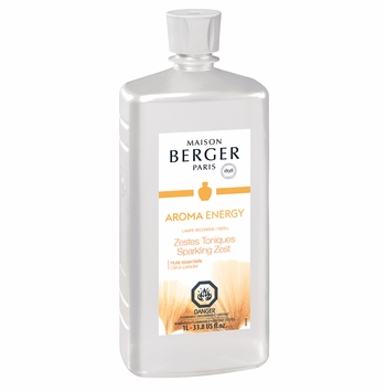 NEW! - Aroma Energy: Sparkling Zest 1 Liter (33.8 oz.) Fragrance Lamp Oil - Lampe Berger by Maison Berger