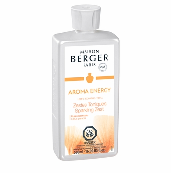 NEW! - Aroma Energy: Sparkling Zest 500 ml (16.9 oz.) Fragrance Lamp Oil - Lampe Berger by Maison Berger