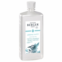 NEW! - Aroma Happy: Aquatic Freshness 1 Liter (33.8 oz.) Fragrance Lamp Oil - Lampe Berger by Maison Berger