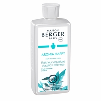 NEW! - Aroma Happy: Aquatic Freshness 500 ml (16.9 oz.) Fragrance Lamp Oil - Lampe Berger by Maison Berger