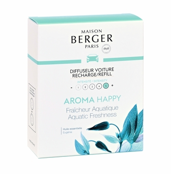 NEW! - Aroma Happy Car Diffuser Ceramic Refill - Maison Berger by Lampe Berger