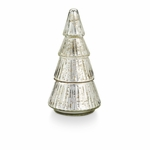 NEW! - Balsam & Cedar Etched Mercury Glass Tree Illume Candle | Holiday Collection by Illume Candles