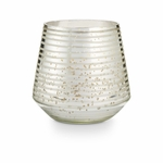 NEW! - Balsam & Cedar Large Etched Mercury Glass Illume Candle | Holiday Collection by Illume Candles