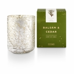 NEW! - Balsam & Cedar Small Luxe Sanded Mercury Glass Illume Candle | Holiday Collection by Illume Candles