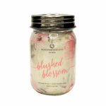 NEW! - Blushed Blossom Ltd Edition 13 oz. Wrapped Mason Jar by Milkhouse Candle Creamery | New Releases by Milkhouse Candle Creamery