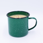 NEW! - Bourbon Maple Sugar Gourmet Enamelware Medium Mug Swan Creek Candle | Gourmet Enamelware Collection