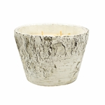 NEW! - Bourbon Maple Sugar White Woods Birch Small Oval Swan Creek Candle | White Woods Pottery Collection