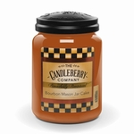 NEW! - Bourbon Mason Jar Cake 26 oz. Large Jar Candleberry Candle | New Releases by Candleberry