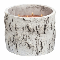 NEW! - Buttered Maple Syrup Woodland Birch Large Round Crock Crossroads Candle