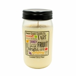 NEW! - Candied Citrus Peel 24 oz. Swan Creek Kitchen Pantry Jar Candle | 24 oz. Swan Creek Kitchen Pantry Jar Candles