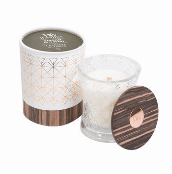 NEW! - Charcoal & Amber Aura WoodWick Candle