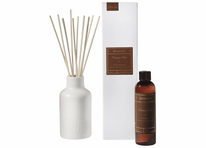 Cinnamon Cider 4 oz. Reed Diffuser Set by Aromatique
