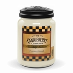 NEW! - Coconut Island 26 oz. Large Jar Candleberry Candle | New Releases by Candleberry