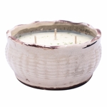 CLOSEOUT-Coconut Lime French Farmhouse Bowl Swan Creek Candle (Color: Ivory) | Swan Creek Candles Closeouts