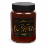 NEW! - Count Your Blessings Artwork Cinnamon Sticks 26 oz. Crossroads Candle | Crossroads 26 oz. Artwork Label Candles
