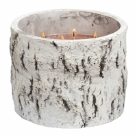 NEW! - Crackling Birch Woodland Birch Large Round Crock Crossroads Candle