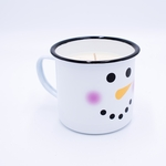 NEW! - Cranberry Apple Crisp Festive Holiday Swan Creek Medium Mug Candle | Holiday Enamelware Candles
