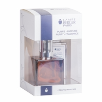 NEW! - Cube Amber Lamp Gift Set with 180 ml (6.08 oz.) Ocean Breeze Fragrance Oil - Lampe Berger by Maison Berger
