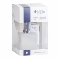 NEW! - Cube Frosted Lamp Gift Set with 180 ml (6.08 oz.) Ocean Breeze Fragrance Oil - Lampe Berger by Maison Berger