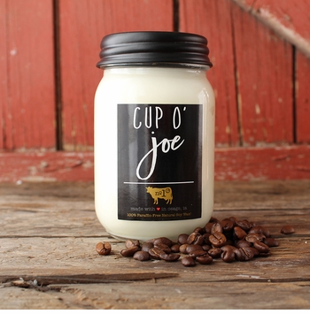 Cup O' Joe 13 oz. Mason Jar Candle by Milkhouse Candle Creamery