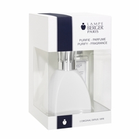 NEW! - Curve White Lamp Gift Set  with 180 ml (6.08 oz.) Ocean Breeze Fragrance Oil - Lampe Berger by Maison Berger