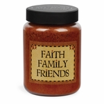 NEW! - Faith Family Friends Artwork Buttered Maple Syrup 26 oz. Crossroads Candle | Crossroads 26 oz. Artwork Label Candles