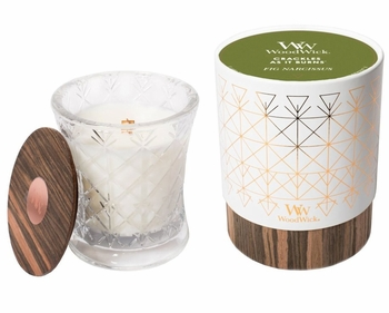 Fig Narcissus Aura WoodWick Candle