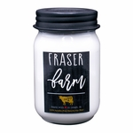 NEW! - Fraser Farm 13 oz. Mason Jar Candle by Milkhouse Candle Creamery | Farmhouse Mason Jar Candles by Milkhouse Candle Creamery