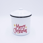 NEW! - Fresh-Cut Christmas Tree Festive Holiday Swan Creek Large Canister Candle | NEW! - Holiday Enamelware Candles