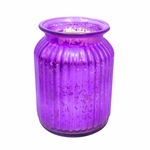 NEW! - Fresh-Cut Christmas Tree Purple 24 oz. Gilded Glass Large Jar Swan Creek Candle | Gilded Glass Collection