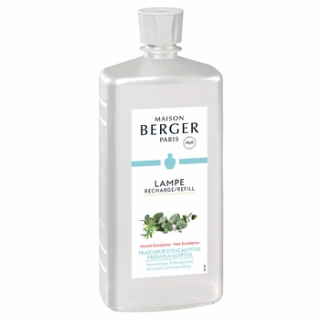 NEW! - Fresh Eucalyptus 1 Liter (33.8 oz.) Fragrance Lamp Oil - Lampe Berger by Maison Berger