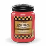 NEW! - Fresh Strawberries 26 oz Large Jar Candleberry Candle | New Releases by Candleberry